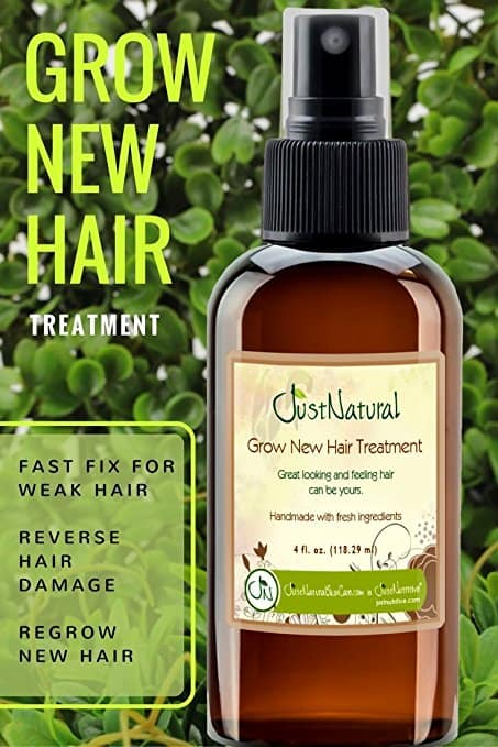Just Natural Grow New Hair Treatment Results