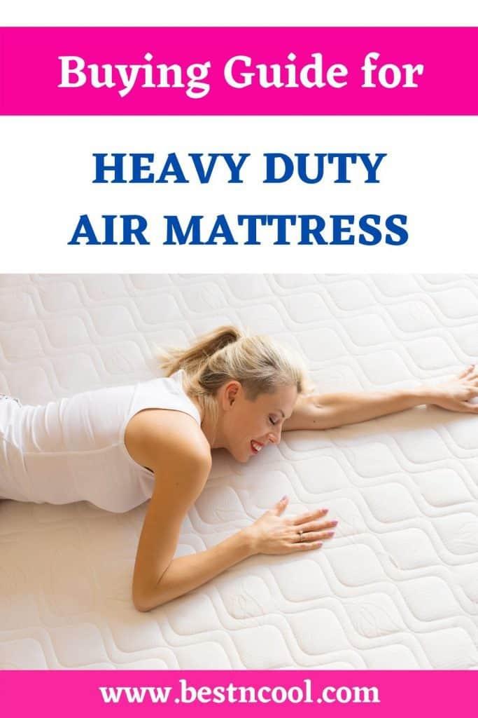 air mattress for heavy person