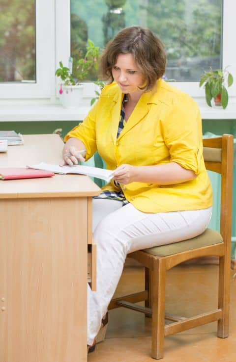 An ergonomic chair is important for the posture, especially for heavier people